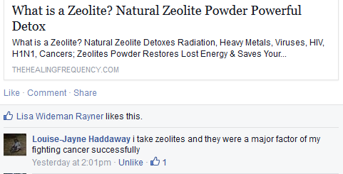 zeolite-testominal cancer